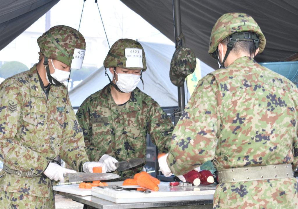 陸自第41普通科連隊が炊事競技会 – 今日新聞